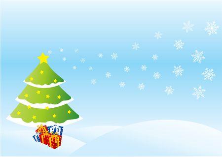 Christmas card illustration Stock Illustration - 280989