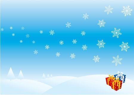 Christmas card illustration Stock Illustration - 280990