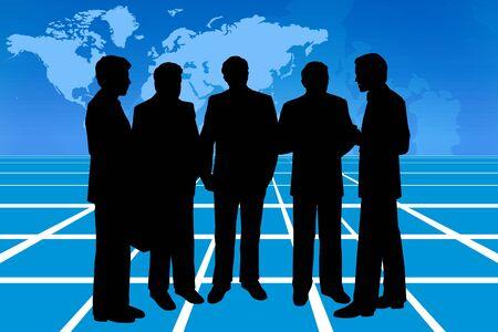 Talking business, conceptual image photo