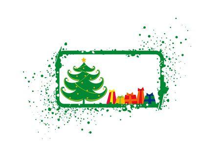 Christmas card, digital illustration Stock Illustration - 581212