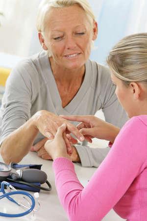 Hand, Semiology, Elderly Person Models