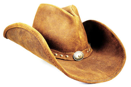 brown leather hat: Cowboy Hat 2