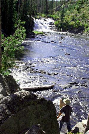 Malowanie obrazu Wodospad