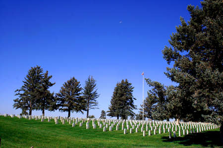Narodowy Cmentarz w Little Bighorn Battlefield Zdjęcie Seryjne