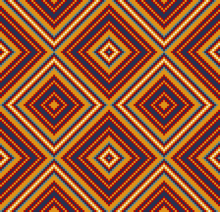 Beading design, tribal design, tribal beads, bead necklace, african beads, ethnic seamless pattern, embroidery cross, squares, diamonds, chevrons. Imagens - 91683423