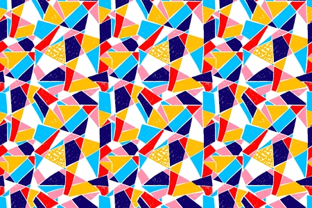 Mosaic pattern of broken tile Seamless hand drawn pattern with markers. T