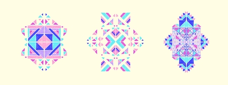 Vector Tribal ornament, aztec embroidery, ethnic collection, geometric pattern, african print,  mexican decoration