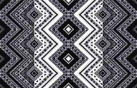 기하학적 민속 장식입니다. 부족의 민족 벡터 질감입니다. 아즈텍 스타일의 원활한 스트라이프 패턴입니다. 그림 부족 자 수입니다. 인도, 스칸디나비 일러스트
