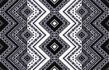 Geometric folklore ornament. Tribal ethnic vector texture. Seamless striped  pattern in Aztec style. Figure tribal  embroidery. Indian, Scandinavian, Slavic, Mexican, folk pattern. Ilustrace