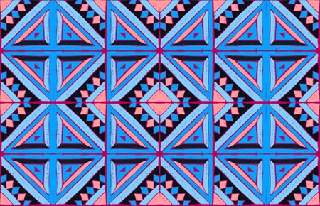 Antique tiles. Tribal vector ornament. Seamless African folk square pattern. Geometric mosaic, majolica. Ethnic carpet. Aztec style. Vintage patchwork fabric. Ancient interior. Geo print on textile.