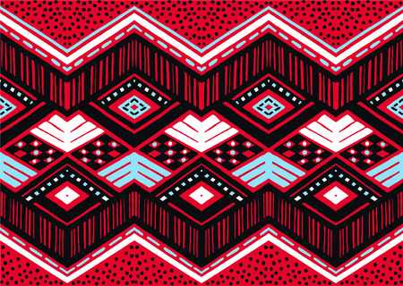 Tribal ethnic vector texture. Seamless striped pattern in Aztec style. Figure tribal embroidery. Indian, Scandinavian, Gypsy, Mexican, folk pattern.