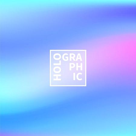 ホログラフィックベクトルの背景。虹色の箔。グリッチ・ホログラムパステルネオンの虹。紫外線金属紙。プレゼンテーション用のテンプレート。
