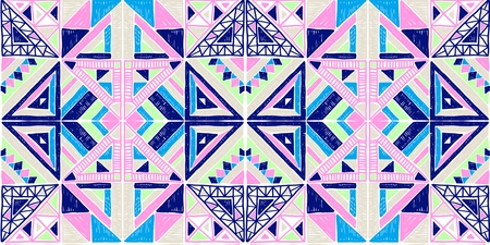 Tribal vector ornament. Seamless African pattern. Ethnic carpet with chevrons. Aztec style.