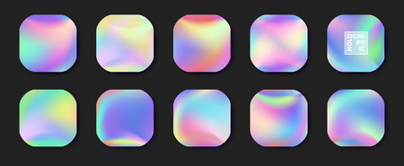 Holographic Vector Background. Iridescent Foil.