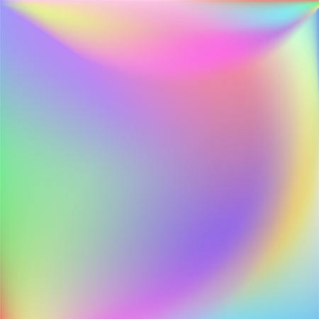 Holographic Vector Background. Iridescent Foil. Glitch Hologram. Pastel neon rainbow. Ultraviolet metallic paper. Template for presentation. Cover to web design.  Abstract colorful gradient. Banco de Imagens - 95360114