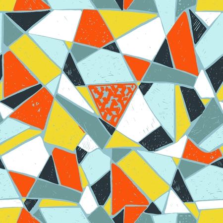 Mosaic pattern of broken tile. Illustration