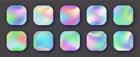 Holographic Vector Backgrounds.  Abstract colorful gradient.