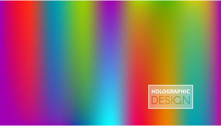 Shiny foil paper. Holographic Vector Background. Iridescent Foil. Glitch Hologram. Pastel neon rainbow. Ultraviolet metallic paper.  Cover to web design.  Abstract colorful gradient. Illustration