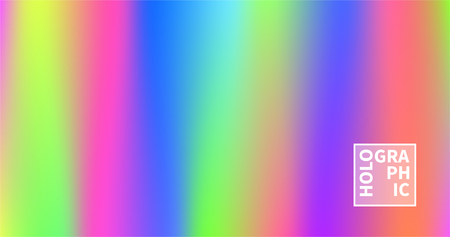 Shiny foil paper. Holographic Vector Background. Iridescent Foil. Glitch Hologram. Pastel neon rainbow. Ultraviolet metallic paper.  Cover to web design.  Abstract colorful gradient. Çizim