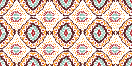 Tribal ethnic pattern in Aztec style. Illustration