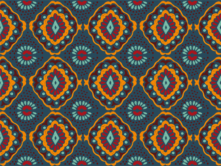 Ikat geometric folklore ornament. Tribal ethnic vector texture. Seamless striped pattern in Aztec style.