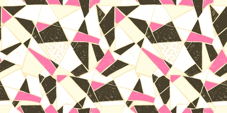 Abstract mosaic of broken tile seamless pattern design.
