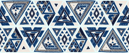 Tribal ethnic vector patchwork pattern. 일러스트