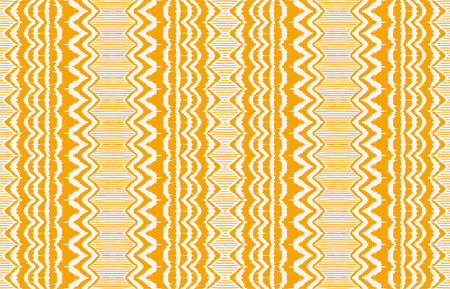 Ikat seamless pattern. Vector tie dye shibori print with stripes and chevron. Ink textured japanese background. Ethnic fabric vector. Bohemian fashion. Endless  texture. African rug.