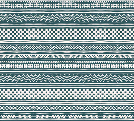 Tribal vector ornament. Seamless African pattern. Ethnic carpet with chevrons and strips. Aztec style. Geometric striped pattern. Ancient interior. Modern rug. Geo print on textile. Vintage fabric.