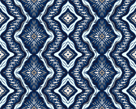 Geometric folklore ornament. Tribal ethnic vector texture. Seamless striped pattern with sea shells. Figure tribal embroidery. Indian, Scandinavian, Gypsy, Mexican, folk pattern. 版權商用圖片 - 104438322
