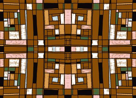 Geometric background in Mondrian grid style.
