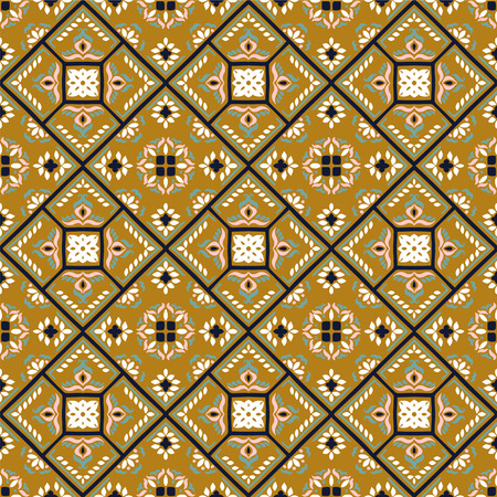 Talavera pattern.  Azulejos portugal. Turkish ornament. Moroccan tile mosaic. Spanish porcelain. Ceramic tableware, folk print. Spanish pottery. Ethnic background. Mediterranean seamless  wallpaper. Banco de Imagens - 106493669