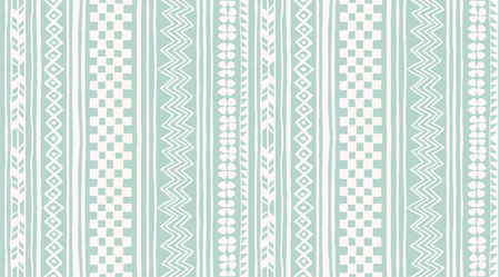 Tribal vector ornament. Seamless African pattern. Ethnic carpet with chevrons and strips. Aztec style. Geometric striped pattern. Ancient interior. Modern rug. Geo print on textile. Vintage fabric. Ilustrace