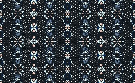 Fleurs et feuilles colorées de motif floral sans couture. Broderie de fleurs. Motif Talavera. Patchwork indien. Ornement turc. Origine ethnique espagnole. Fond d'écran méditerranéen sans couture.