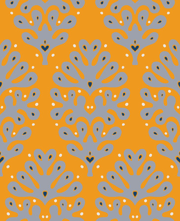 Talavera pattern.  Indian patchwork. Azulejos portugal. Turkish ornament. Moroccan tile mosaic. Ceramic tableware, folk print. Spanish pottery. Ethnic background. Mediterranean seamless  wallpaper. Illusztráció