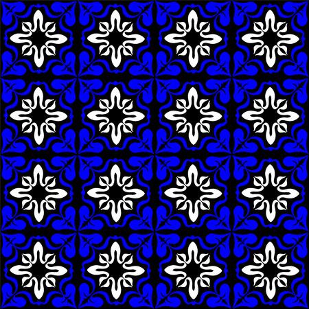 Talavera pattern.  Indian patchwork. Azulejos portugal. Turkish ornament. Moroccan tile mosaic. Ceramic tableware, folk print. Spanish pottery. Ethnic background. Mediterranean seamless  wallpaper. Illustration