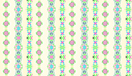 Seamless floral pattern folk colorful flowers and leaves. Flower embroidery. Talavera pattern.  Indian patchwork. Turkish ornament.  Spanish  ethnic background. Mediterranean seamless  wallpaper.