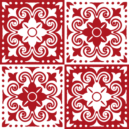 Talavera pattern.  Indian patchwork. Azulejos portugal. Turkish ornament. Moroccan tile mosaic. Ceramic tableware, folk print. Spanish pottery. Ethnic background. Mediterranean seamless  wallpaper. Banco de Imagens - 114681065