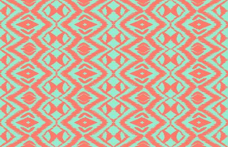 Ikat nahtlose Muster. Vektorkrawatten-Shiboridruck mit Streifen und Sparren. Strukturierter japanischer Hintergrund der Tinte. Ethnische Stoff Vektor. Böhmische Mode. Endlose Aquarell Textur. Afrikanischer Teppich. Vektorgrafik