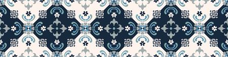 Talavera pattern.  Indian patchwork. Azulejos portugal. Turkish ornament. Moroccan tile mosaic. Ceramic tableware, folk print. Spanish pottery. Ethnic background. Mediterranean seamless  wallpaper. Banco de Imagens - 116463727