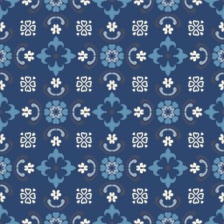 Talavera pattern.  Indian patchwork. Azulejos portugal. Turkish ornament. Moroccan tile mosaic. Ceramic tableware, folk print. Spanish pottery. Ethnic background. Mediterranean seamless  wallpaper. Banco de Imagens - 116463737