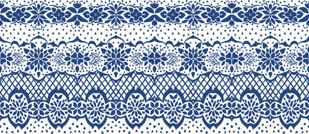 Traditional vector ornament in Scandinavian style. Stylized flowers and plants.  lace strips. Turkish folk print. Spanish pottery. Ethnic background. Mediterranean seamless  wallpaper. Reklamní fotografie - 116463761
