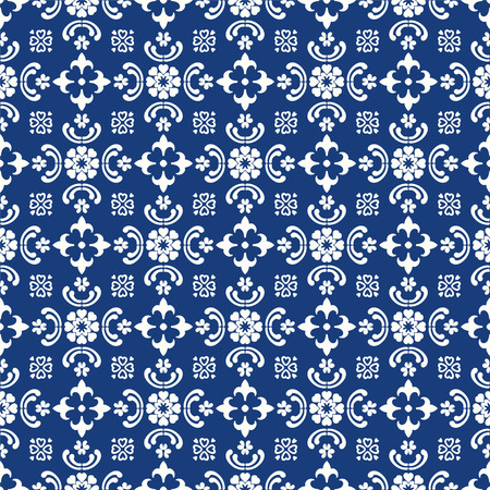 Talavera pattern.  Indian patchwork. Azulejos portugal. Turkish ornament. Moroccan tile mosaic. Ceramic tableware, folk print. Spanish pottery. Ethnic background. Mediterranean seamless  wallpaper. Banco de Imagens - 116549806