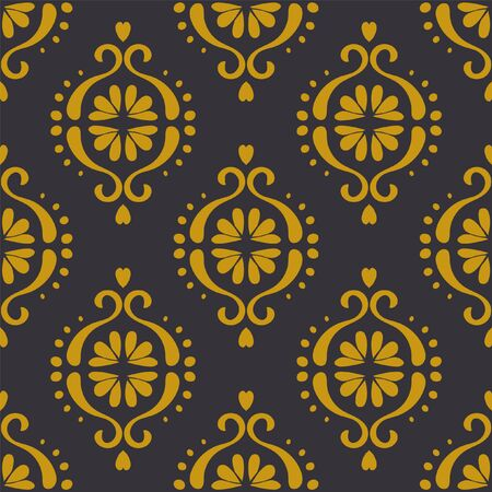 Ikat geometric folklore ornament. Oriental vector damask pattern. Ancient art of Arabesque. Tribal ethnic texture. Spanish motif on the carpet. Aztec style. Indian rug. Gypsy, Mexican embroidery.O Фото со стока - 129101955
