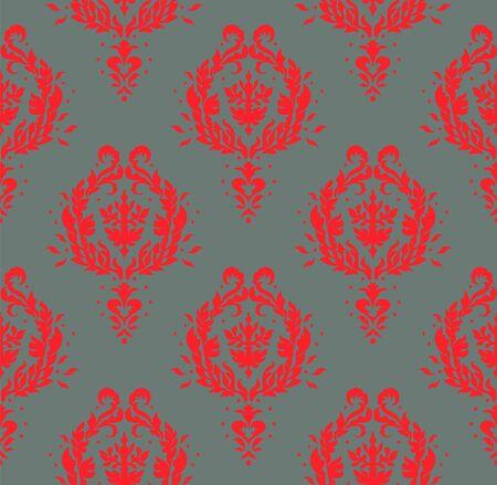 Oriental vector damask pattern. Talavera pottery. Azulejos portugal. Turkish ornament. Spanish porcelain.