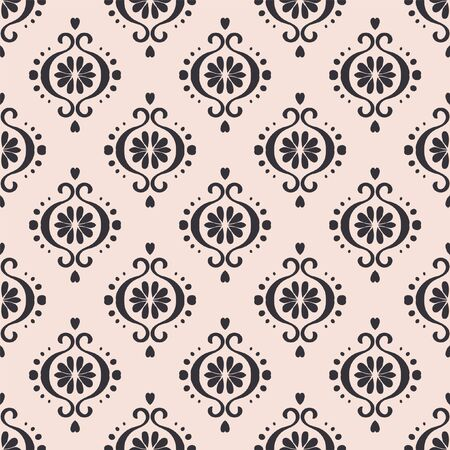 Ikat geometric folklore ornament. Oriental vector damask pattern. Ancient art of Arabesque. Tribal ethnic texture. Spanish motif on the carpet.