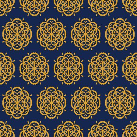 Oriental vector damask pattern. Talavera pottery. Azulejos portugal. Turkish ornament. Spanish porcelain. Ceramic tableware, folk print.