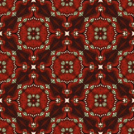Bandana print. Women's shawl with floral pattern. Mediterranean wallpaper. Portuguese tile azulejo. Turkish ornament. Spanish porcelain. Ceramic dishes. Stockfoto - 130684693