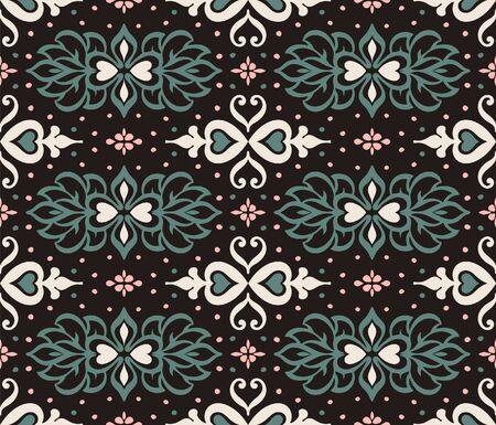 Talavera pattern. Azulejos portugal. Turkish ornament. Moroccan tile mosaic. Spanish porcelain. Ceramic tableware, folk print. Asian pottery. Ethnic background. Mediterranean wallpaper. Art Deco. Stockfoto - 130684701