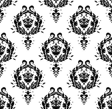 Oriental vector damask pattern. Talavera pottery. Azulejos portugal. Turkish ornament. Spanish porcelain. Ceramic tableware, folk print. Ethnic background. Mediterranean wallpaper.  Talavera pottery. Stockfoto - 130684730